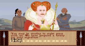Královna Alžběta přišla žebrat o mírovou úmluvu