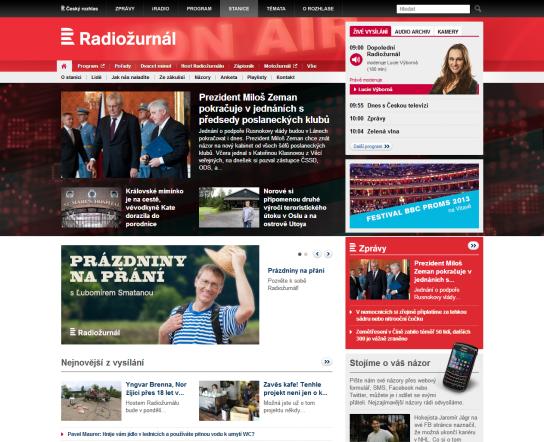 Nový web Radiožurnálu od 22. července 2013